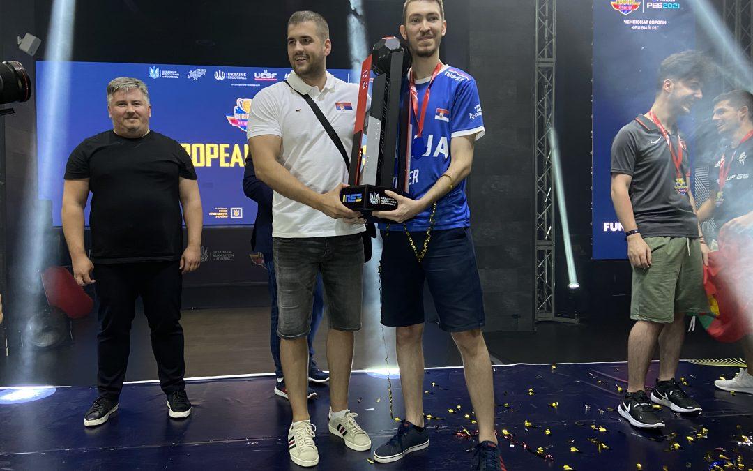 SRBIJA JE ŠAMPION EVROPE! Đorđe Milićević je sa 3-0 slavio u finalu Nacionalnog PES21 Kupa
